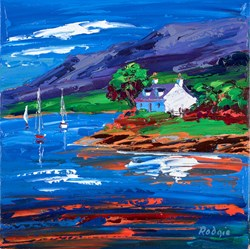 Coastal Croft III by Lynn Rodgie -  sized 12x12 inches. Available from Whitewall Galleries